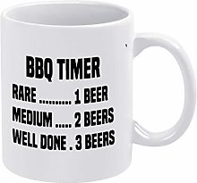 Quotes Coffee Mug,BBQ Timer Ceramic Mug Novelty
