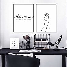 Quotes Print Painting Black and White Canvas