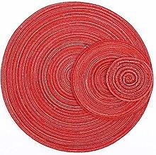 QURIURJ 1pc Placemat Coaster Cotton Round