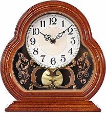 QuRRong Retro Desk Clock Home Decorative Clocks