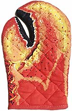 QUUY 3D Cartoon Animal Oven Mitts, Long