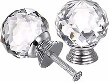 Quyi Crystal Door Drawer Knobs - 4 Pcs 40 MM