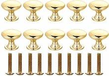 Quyi Round Cabinet Knobs Gold Door Knobs Mushroom