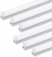 QVQV (Pack of 6) LED T5 Integrated Single Fixture,