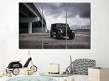 QWASD Mercedes Benz Muscle Car Canvas Print Wall