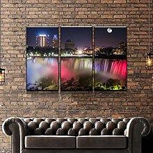 QWASD Niagara At Night Canvas Print Wall Art