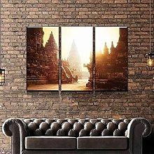 QWASD Prambanan Temple Canvas Print Wall Art