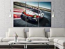 QWASD Sport Racing Car Canvas Print Wall Art