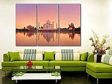 QWASD Taj Mahal Canvas Print Wall Art Paintings