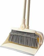 QWE Broom And Dustpan Set Upright Long-Handled