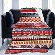 QWERDF Ethnic And Tribal Motifs Blanket Couch Sofa
