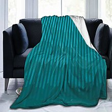 QWERDF Graphic Teal Color Scattered Linear Blanket