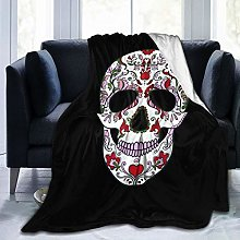 QWERDF Halloween. Sugar Skull Blanket Couch Sofa