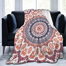 QWERDF Hand Drawn Mandala Blanket Couch Sofa Soft