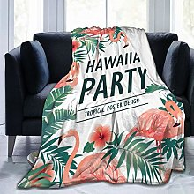 QWERDF Hawaiian Party Blanket Couch Sofa Soft Warm