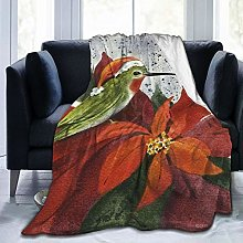 QWERDF Holiday Hummingbird Blanket Couch Sofa Soft