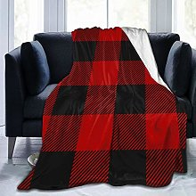QWERDF Lumberjack Plaid Blanket Couch Sofa Soft