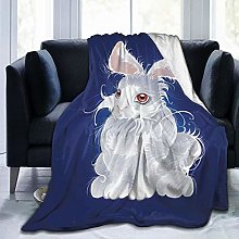 QWERDF Magic White Rabbit Blanket Couch Sofa Soft