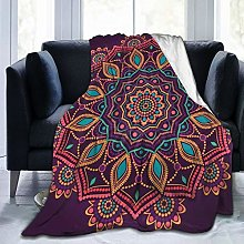 QWERDF Ornamental Mandala Flannel Fleece Throw