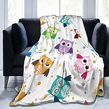 QWERDF Owls Blanket Couch Sofa Soft Warm Flannel
