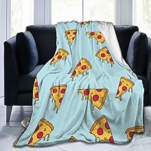 QWERDF Pizza Slice Blanket Couch Sofa Soft Warm
