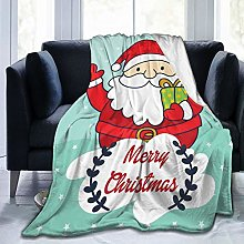 QWERDF Santa Claus Cartoon Blanket Couch Sofa Soft