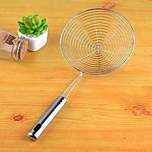 qwert 1Pc Stainless Steel Handle Strainer Sifter