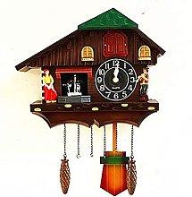 qwert Europe Cuckoo Clock Bird Singing Wall