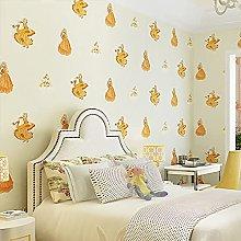 QWESD Cartoon room non-woven wallpaper girl