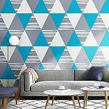 QWESD Geometric triangle lattice wallpaper modern