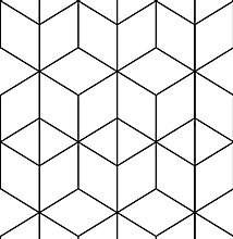 QWESD Geometry Peel And Stick Wallpapers White