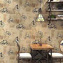 QWESD Retro nostalgic wallpaper bicycle bicycle