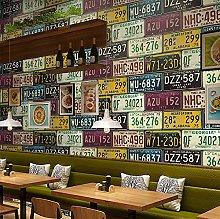 QWESD Retro nostalgic wallpaper loft industrial