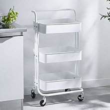 QWESHTU Service Cart Storage Trolleys Four Wheels