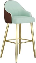 QWEZXCMI Bar Stools, Bar Chair with Backrest And