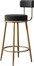 QWEZXCMI Metal Iron Bar Stool Modern Gold Bar