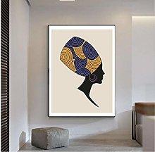 QWGYKR African Woman Art Print Canvas Poster Art