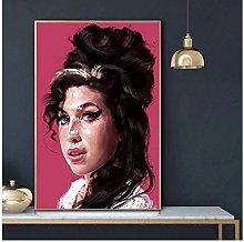 QWGYKR Amy Winehouse Art Print Canvas Poster Art