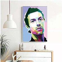 QWGYKR Chris Martin Canvas Poster Art Print Wall