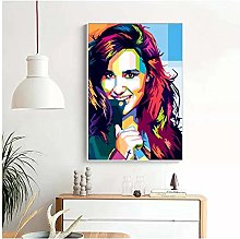 QWGYKR Demi Lovato Canvas Poster Art Print Wall