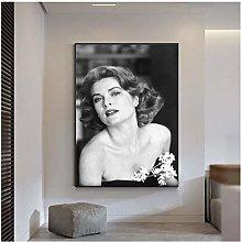 QWGYKR Grace Kelly Art Print Poster Art Print Wall