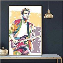 QWGYKR John Mayer Art Print Canvas Poster Art