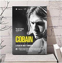 QWGYKR Kurt Cobain Canvas Poster Art Print Wall