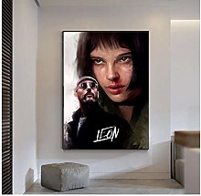 QWGYKR Leon The Professional Poster Art Print Wall