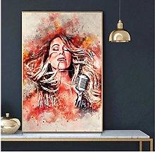 QWGYKR Mariah Carey Art Print Canvas Poster Art