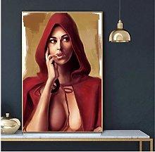 QWGYKR Monica Bellucci Art Print Canvas Poster Art