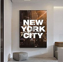 QWGYKR New York City Art Print Canvas Poster Art