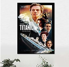 QWGYKR Titanic Movie Canvas Poster Art Print Wall