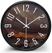 QWJYREMN Wall Clock Black Border Decorative Wall