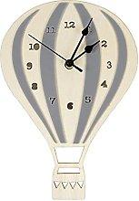 QWJYREMN Wall Clock Gray Leuke Houten Cartoon Hot